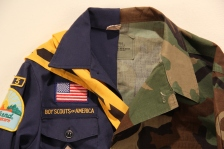 A Family Tradition 2016 sewn scout and army uniform detail